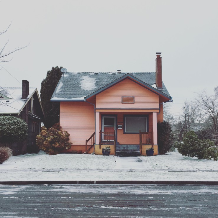 House on Mason in the Snow