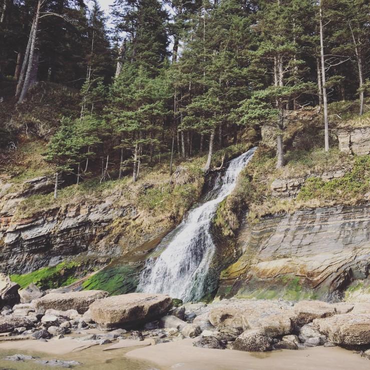 Waterfall near Cape Falcon