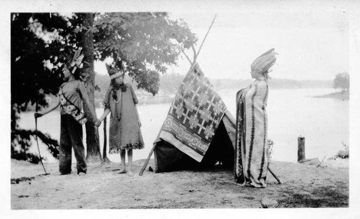 Girl Scouts Performing Longfellow Song of Hiawatha 1928
